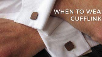 When to wear cufflinks?